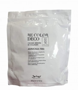 Be Color Rozjaśniacz w proszku bez amoniaku DECO BAG 500g
